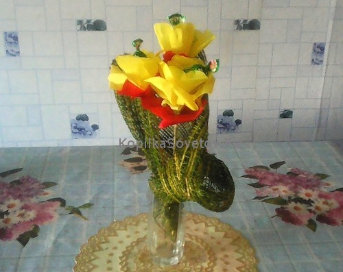 Цветы из конфет - презентация