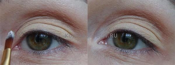 Наносим тени в уголок глаза