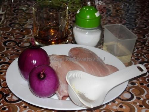 Подготовим продукты для эскалопа