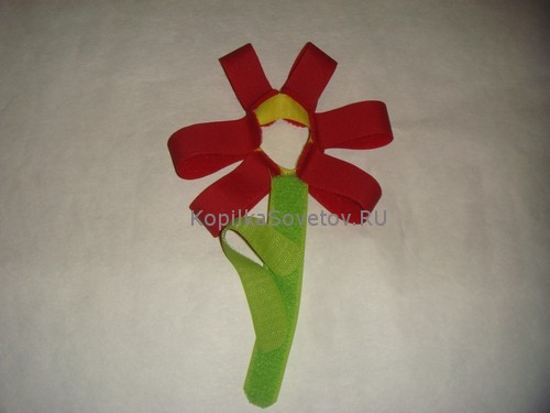Цветок из липучек