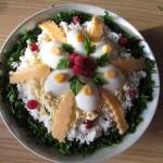 Салат с крилем и куриной грудкой