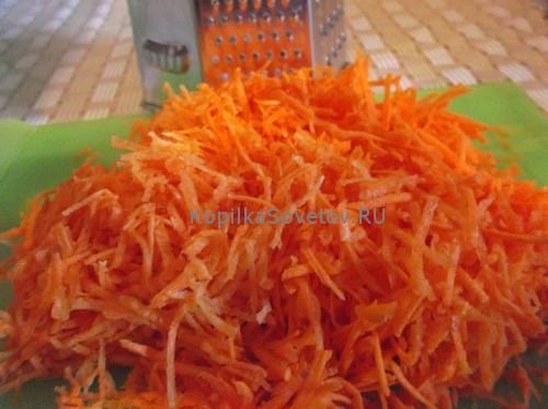 Морковь нашинковать на терке