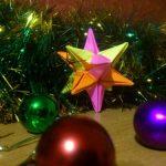Объемная звезда в технике оригами